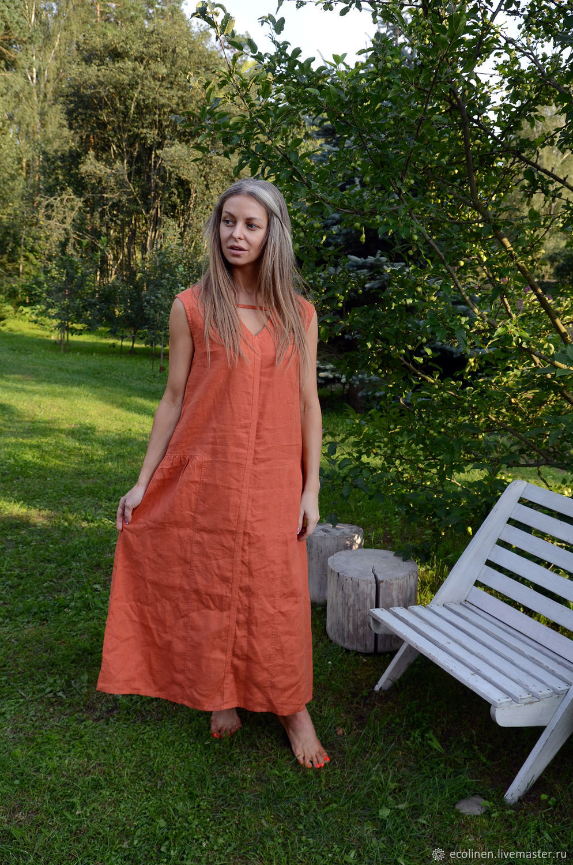 Linen tunic. Beach tunic. 100% linen. Softened, Sundresses, Minsk,  Фото №1