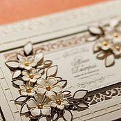 Открытки ручной работы. Ярмарка Мастеров - ручная работа большая свадебная открытка с конвертом и коробочкой. Handmade.