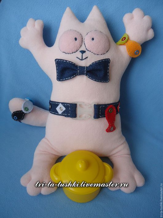 Развивающие игрушки ручной работы. Ярмарка Мастеров - ручная работа. Купить Развивающий кот Саймона с богатым уловом. Handmade. Кот