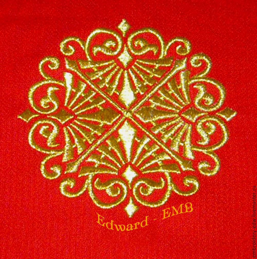 Вышивка золотом орнамент