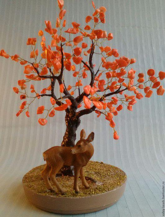 """Деревья ручной работы. Ярмарка Мастеров - ручная работа. Купить """"Осень"""". Handmade. Рыжий, проволока позолоченная"""
