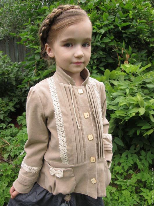 """Одежда для девочек, ручной работы. Ярмарка Мастеров - ручная работа. Купить Жакет  велюровый """" Дворянка"""". Handmade. Бежевый"""