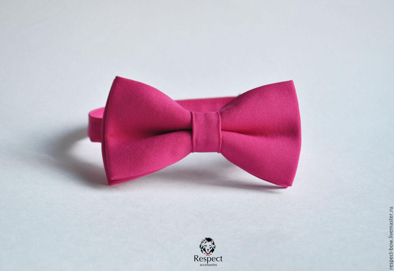 Bow tie purple Fuchsia / wedding color fuchsia, Ties, Moscow,  Фото №1
