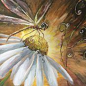 Картины и панно ручной работы. Ярмарка Мастеров - ручная работа Попрыгунья стрекоза. Handmade.