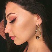 Украшения handmade. Livemaster - original item Stud earrings geometry polka dots. Handmade.