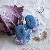 Украшения handmade. Livemaster - original item Stud earrings with flowers. Handmade.