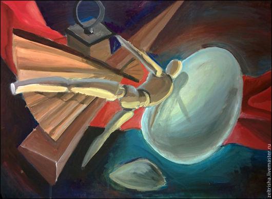 Символизм ручной работы. Ярмарка Мастеров - ручная работа. Купить Метафизическая композиция. Handmade. Тёмно-синий, красный, метафизика, символизм