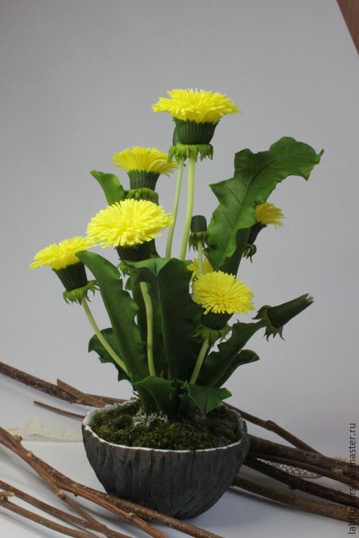 """Искусственные растения ручной работы. Ярмарка Мастеров - ручная работа. Купить """"Солнечные зайчики"""". Handmade. Желтый, полимерная глина"""