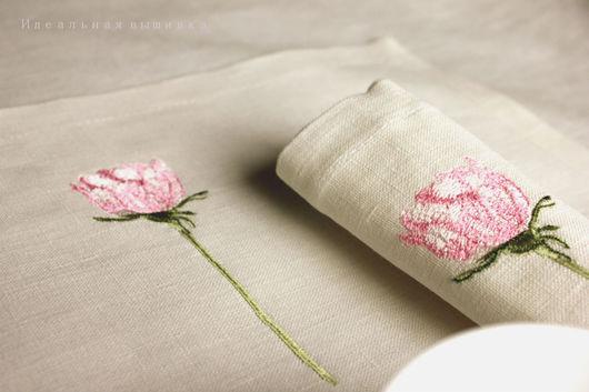 """Текстиль, ковры ручной работы. Ярмарка Мастеров - ручная работа. Купить Набор салфеток """"Свежая роза"""" 2 шт.. Handmade."""
