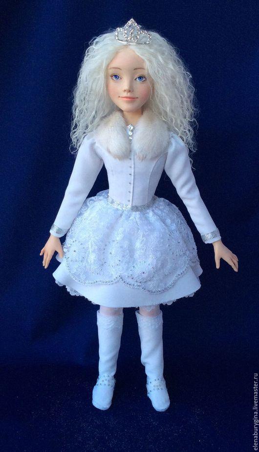 Коллекционные куклы ручной работы. Ярмарка Мастеров - ручная работа. Купить Снегурочка. Авторская кукла. Нашла свой дом. Handmade. Белый