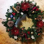 Для дома и интерьера ручной работы. Ярмарка Мастеров - ручная работа Рождественский венок. Handmade.