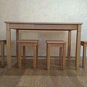 Для дома и интерьера ручной работы. Ярмарка Мастеров - ручная работа Комплект:обеденный стол+4 табурета. Handmade.