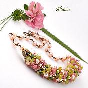 Украшения handmade. Livemaster - original item Hydrangea necklace No. №2. Handmade.