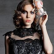 Свадебный салон ручной работы. Ярмарка Мастеров - ручная работа Шляпка с кремовыми цветами. Handmade.