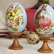 Подарки к праздникам ручной работы. Ярмарка Мастеров - ручная работа Набор пасхальных яиц . 2 шт. Handmade.
