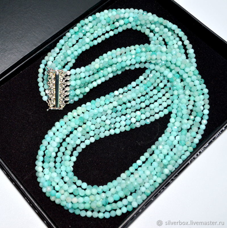 Necklaces & Beads handmade. Livemaster - handmade. Buy Necklace Amazonit SPRING Multi-row beads from natural stones.