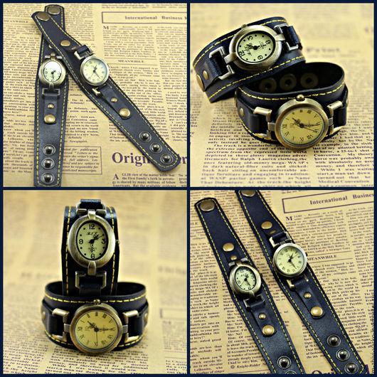"""Часы ручной работы. Ярмарка Мастеров - ручная работа. Купить Часы наручные женские в стиле винтаж """"Blue"""". Handmade. Часы"""