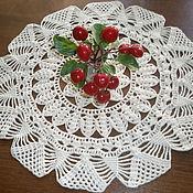 """Для дома и интерьера ручной работы. Ярмарка Мастеров - ручная работа салфетка """"цветок"""". Handmade."""