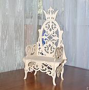 """Материалы для творчества handmade. Livemaster - original item Кукольный трон """"Трон царя Гороха"""", """"Трон для принцессы"""" 887. Handmade."""