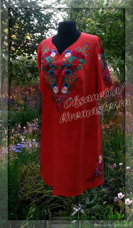 Dresses handmade. Livemaster - handmade. Buy Dress-embroidery 'meadow'.Embroidery, beautiful dress, embroidered dress, dress with embroidery