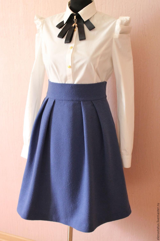 Синие юбки колокольчик