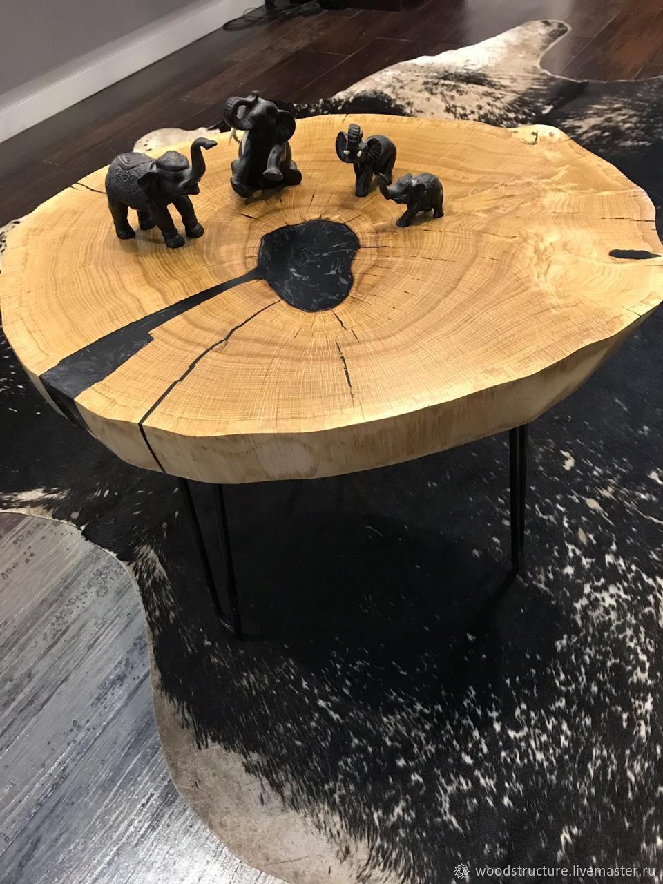 Кофейный стол, массив дуба, Столы, Звенигород,  Фото №1