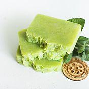 Косметика ручной работы handmade. Livemaster - original item Natural soap Mint freshness from scratch handmade mint. Handmade.