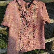 Одежда ручной работы. Ярмарка Мастеров - ручная работа Блуза валяная Сиреневый туман. Handmade.
