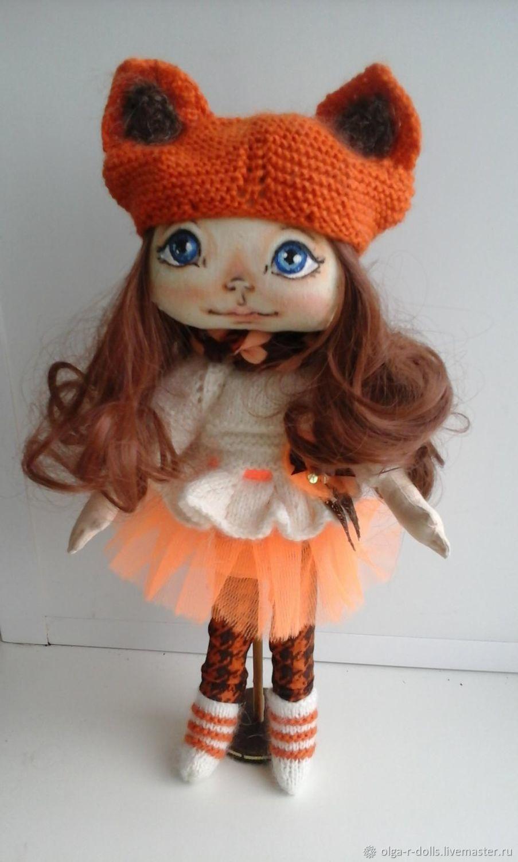 Текстильная кукла. Лисичка. Авторская игрушка, Куклы и пупсы, Рыбинск,  Фото №1