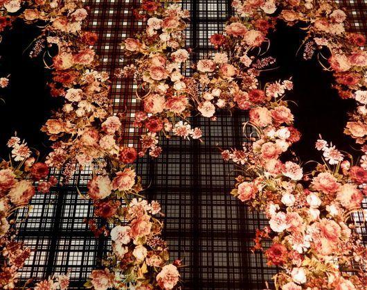 Шитье ручной работы. Ярмарка Мастеров - ручная работа. Купить Вискозное джерси цветы на клетчатом фоне. Handmade. Комбинированный, вискоза
