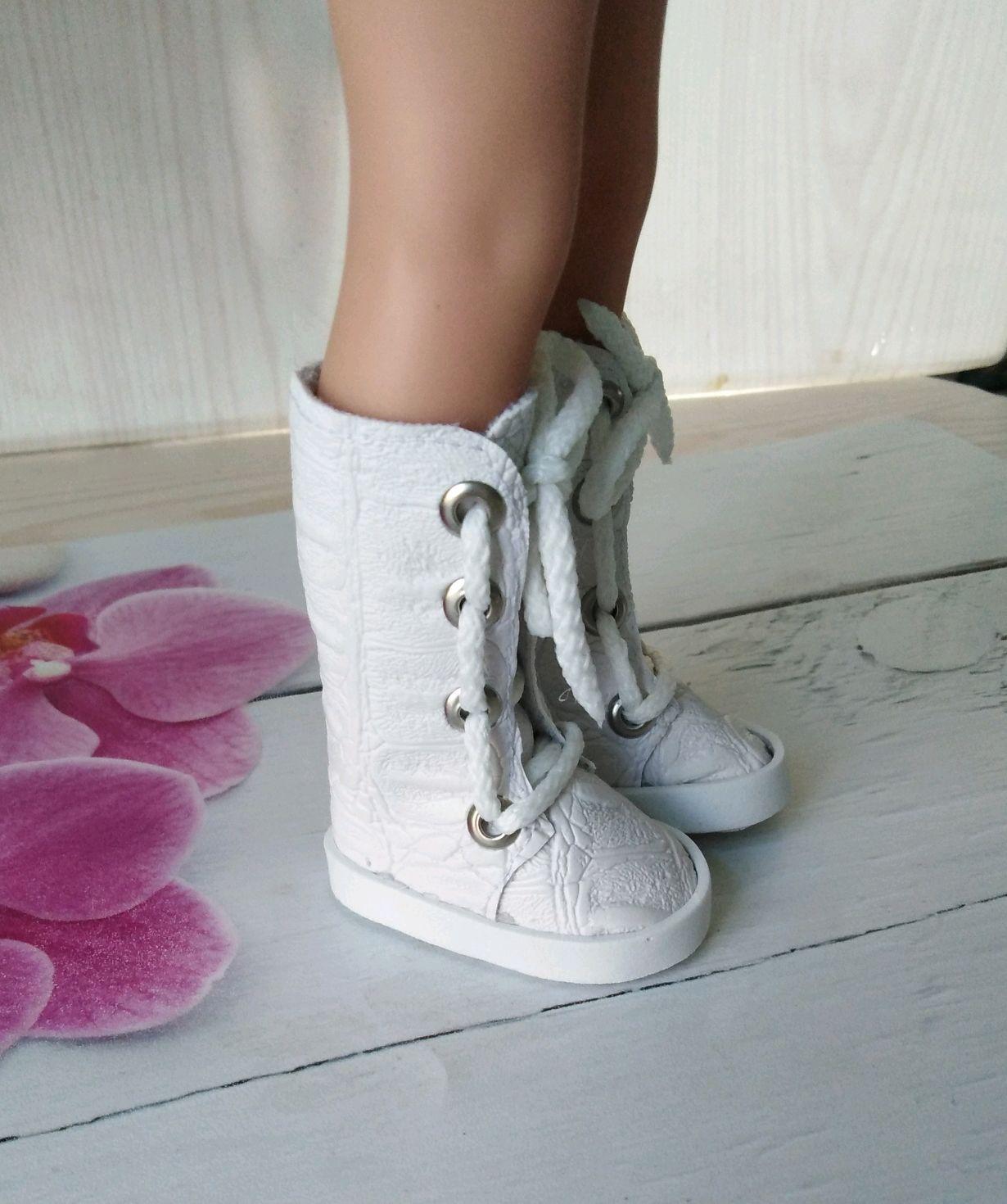 Белые сапожки для Паолочки, Одежда для кукол, Челябинск,  Фото №1
