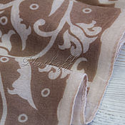 Аксессуары handmade. Livemaster - original item Beige silk scarf from Valentino fabric