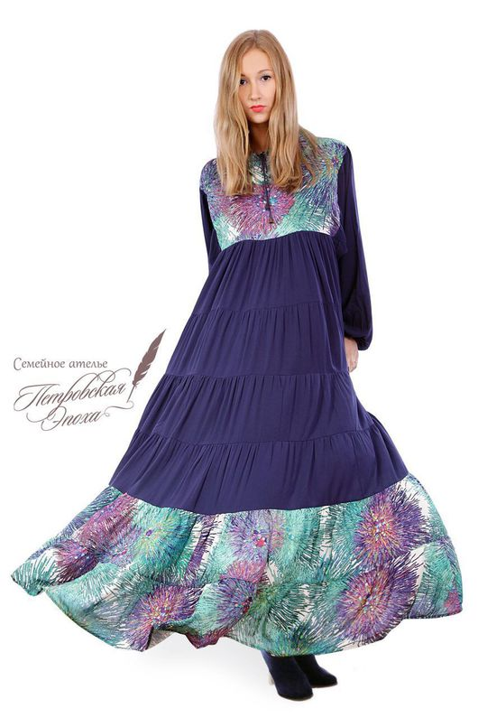 """Платья ручной работы. Ярмарка Мастеров - ручная работа. Купить Платье с капюшоном,,Салина""""С2. Handmade. Платье недорого"""