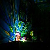Для дома и интерьера ручной работы. Ярмарка Мастеров - ручная работа Ночник проектор витраж. Handmade.