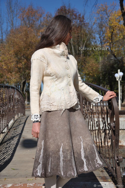 "Felting jacket ""Creamy desserts"", Suit Jackets, Apsheronsk,  Фото №1"