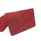 Обложки ручной работы. Ярмарка Мастеров - ручная работа Кожаная обложка для паспорта, обложка на паспорт, подарок женщине. Handmade.