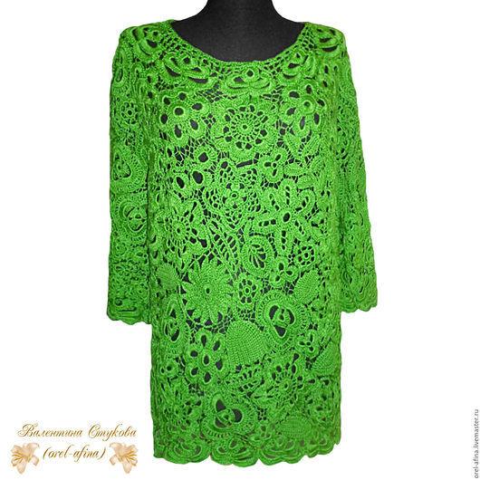 """Блузки ручной работы. Ярмарка Мастеров - ручная работа. Купить блузка вязаная крючком """"Ноктюрн"""". Handmade. Зеленый, Вязание крючком"""