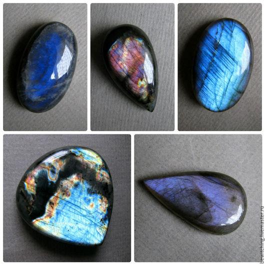 Лабрадор, лабрадорит, спектролит, кабошон для украшений.. Размеры и цены камней указаны под фото. №2 - Продан