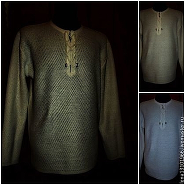 Clothing handmade. Livemaster - original item 100% linen.Chainmail shirt Gray and Beige White 2200 rubles 2500 rubles. Handmade.