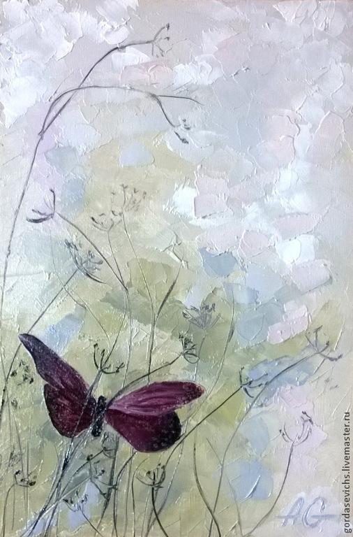 Картины цветов ручной работы. Ярмарка Мастеров - ручная работа. Купить Легкость ветерка... Картина маслом, авторская живопись. Handmade.