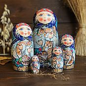 Русский стиль handmade. Livemaster - original item Matryoshka with cats 18 cm, 5 places. Handmade.
