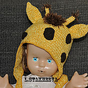 Работы для детей, ручной работы. Ярмарка Мастеров - ручная работа шапка жираф. Handmade.
