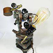 """Для дома и интерьера handmade. Livemaster - original item LIGHT STYLE-microscope steampunk  """"NATURALIST"""". Handmade."""