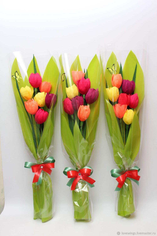 Интересные букет из тюльпанов своими руками