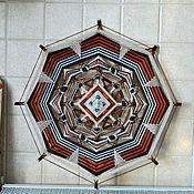 """Картины и панно ручной работы. Ярмарка Мастеров - ручная работа """"Северные узоры"""" (индейская мандала с вышивкой). Handmade."""
