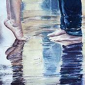 """Картины и панно ручной работы. Ярмарка Мастеров - ручная работа """"Первая любовь"""" акварельная картина. Handmade."""