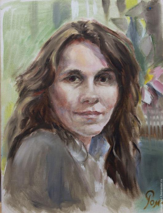 Люди, ручной работы. Ярмарка Мастеров - ручная работа. Купить Портрет Зои. Handmade. Серый, улыбка, заказать портрет