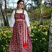 handmade. Livemaster - original item Russian sarafan and a shirt.