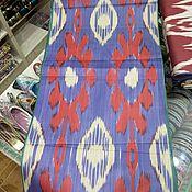 Материалы для творчества handmade. Livemaster - original item Uzbek blue cotton ikat hand weaving. FM064. Handmade.
