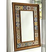 Для дома и интерьера handmade. Livemaster - original item Mirror Painted tiles back in Italy. Handmade.
